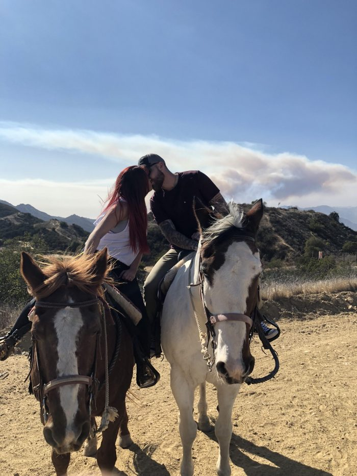 Where to Propose in On top of the Santa Monica mountains overlooking calabasas on horseback