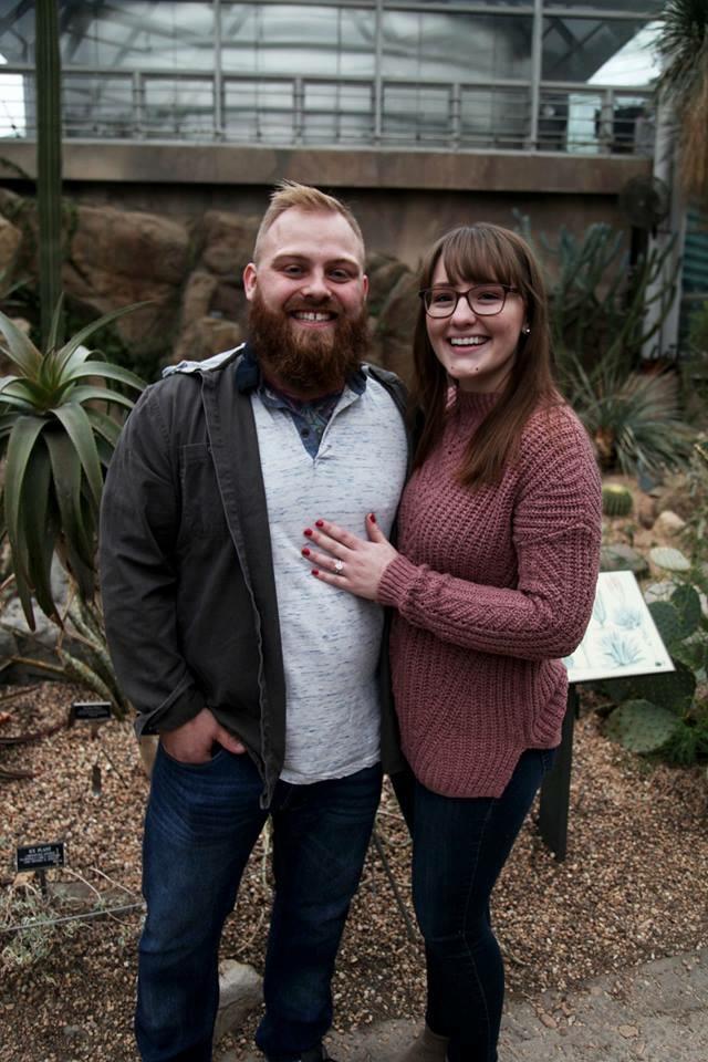 Ashley and Brandon's Engagement in Brooklyn Botanic Gardens