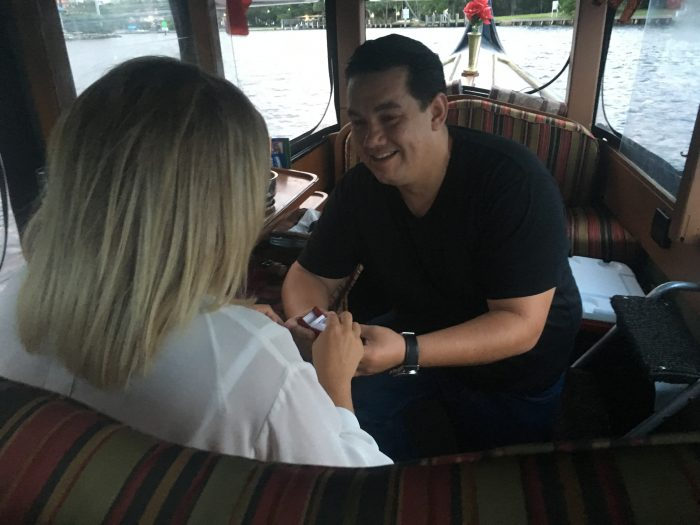 Marriage Proposal Ideas in On a Gondola in the Ft. Lauderdale FL river.