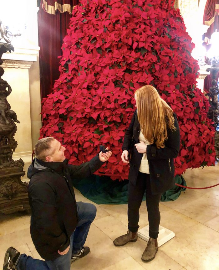 Engagement Proposal Ideas in The Breakers Mansion, Newport,RI