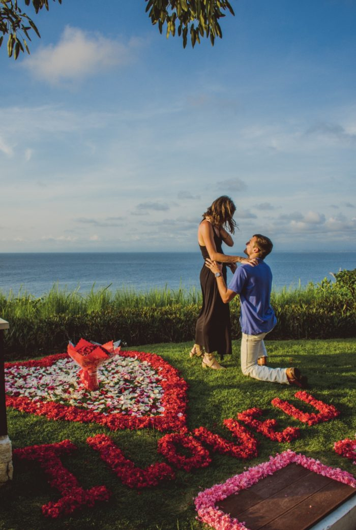 Wedding Proposal Ideas in Anantara Uluwatu Resort Bali, Indonesia