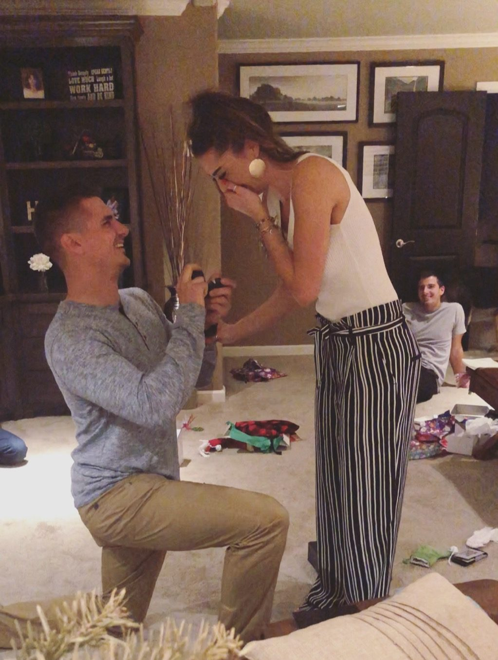 Morgan and Kyle's Engagement in My moms house