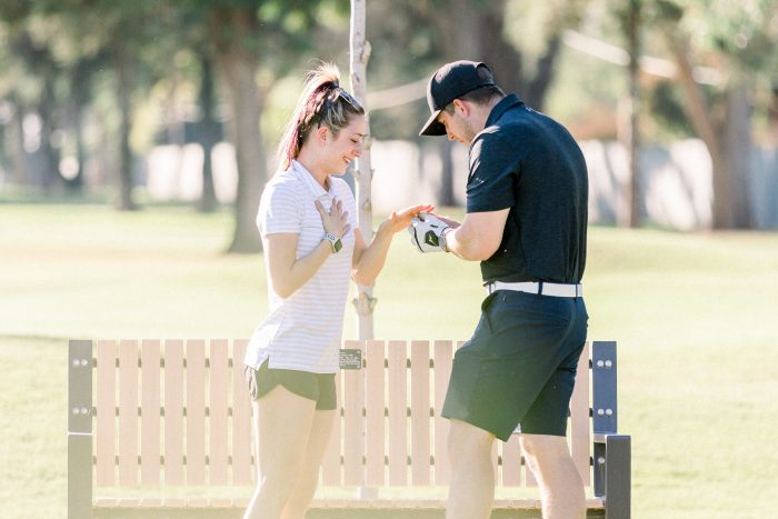 Tawnie's Proposal in Belmont Country Club - Fresno Golf Course