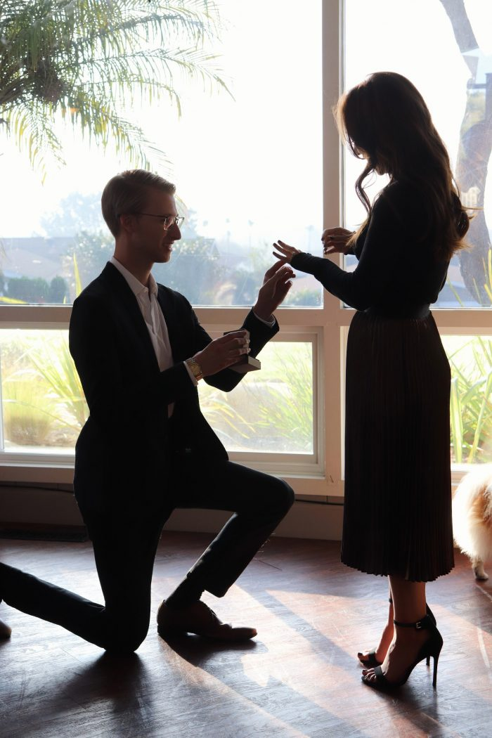 Wedding Proposal Ideas in At a reserved club house on top of a hill in Del Mar, CA.