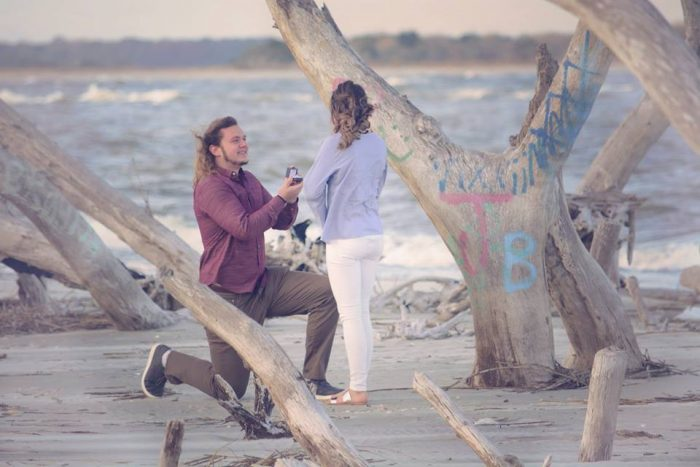 Engagement Proposal Ideas in Folly Beach, SC