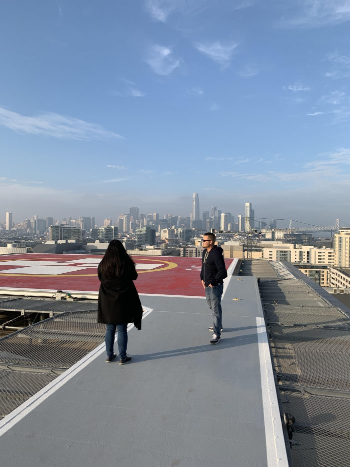 Proposal Ideas On a helicopter pad in San Francisco