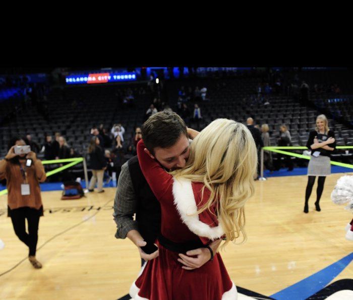 Wedding Proposal Ideas in Oklahoma City Thunder NBA game