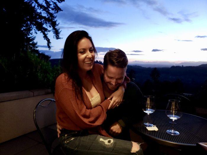 Amanda's Proposal in Willamette Valley Vineyards in Oregon