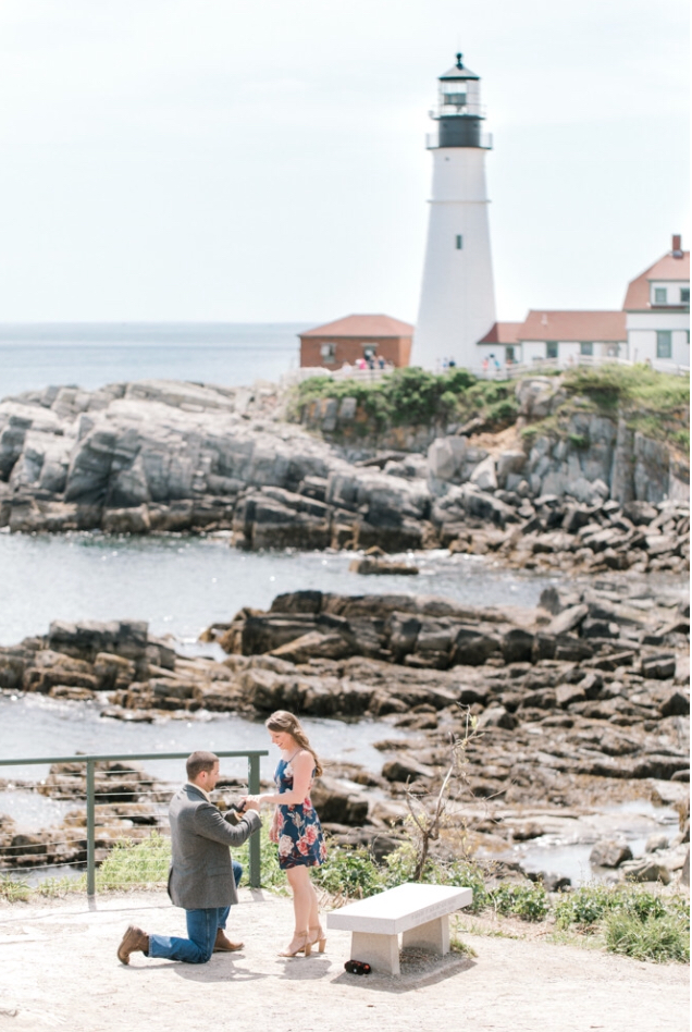 Marriage Proposal Ideas in Portland Headlight in Maine