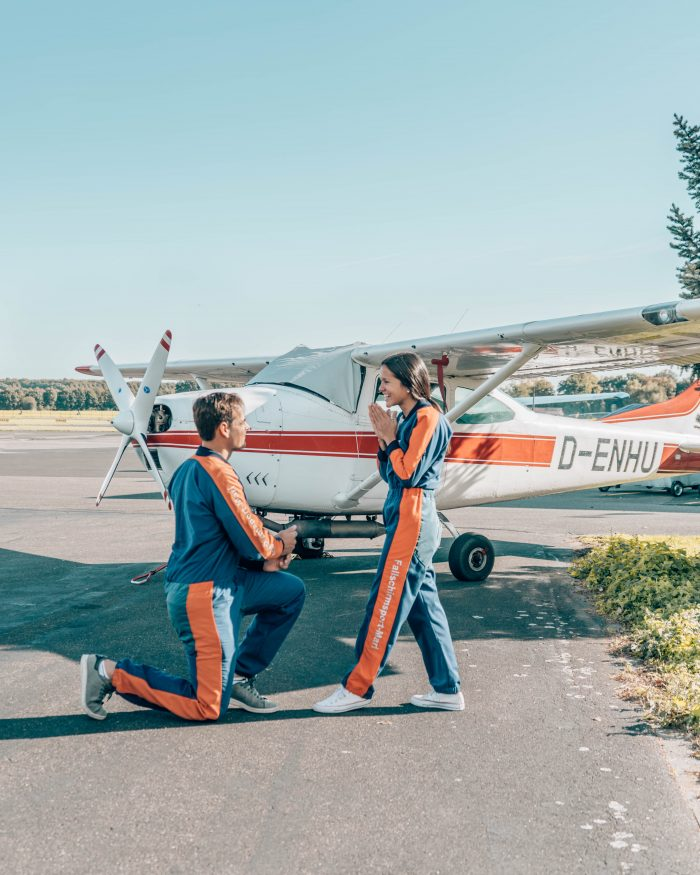 Cristy's Proposal in Skydiving in Germany