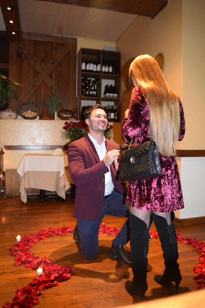 Maria's Proposal in La Masseria, NYC