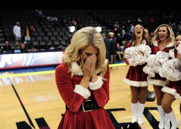 Gracie and Brock's Engagement in Oklahoma City Thunder NBA game