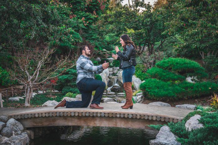 Madalynne's Proposal in Balboa Park Japanese Friendship Garden San Diego, CA