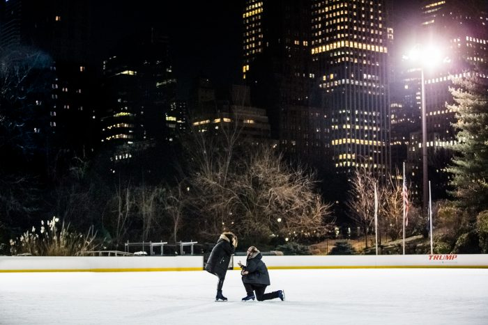 Wedding Proposal Ideas in Wollman Rink in Central Park