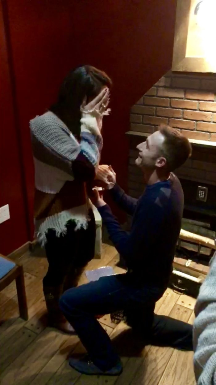 Larisa and Vinny's Engagement in Escape The Room
