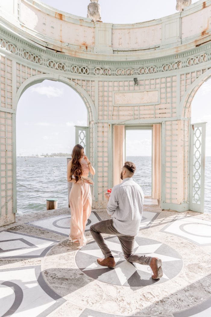 Wedding Proposal Ideas in Vizcaya Musuem & Gardens