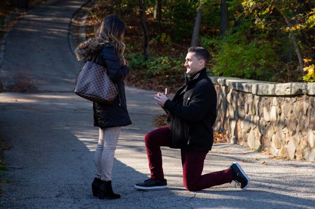 Amanda's Proposal in Clove Lakes Park
