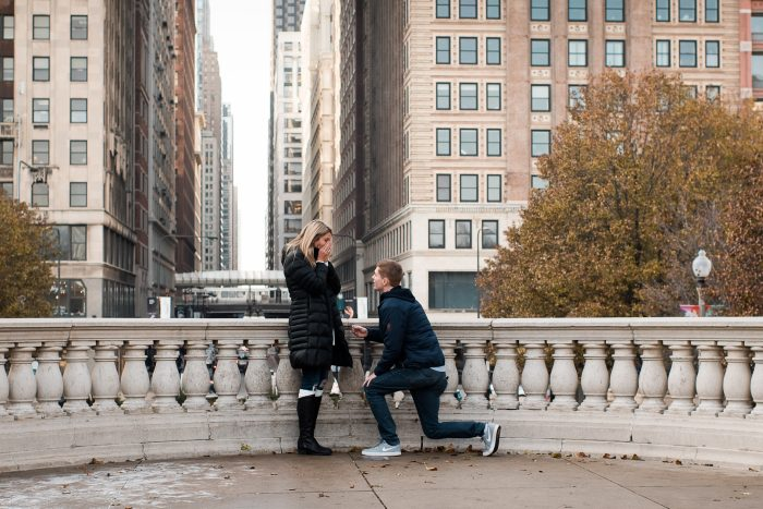 Engagement Proposal Ideas in Millennium Park, Chicago