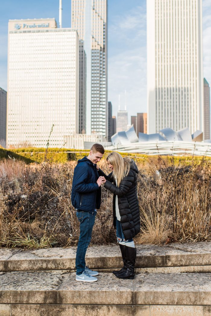 Abby and Sam's Engagement in Millennium Park, Chicago