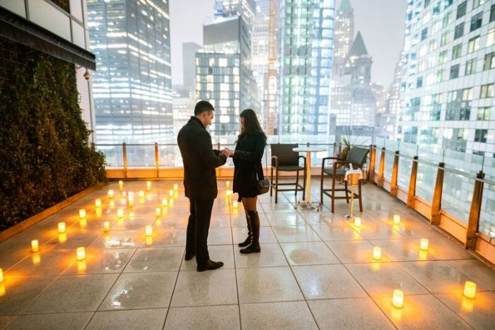 Wedding Proposal Ideas in Private Rooftop in Downtown Manhattan