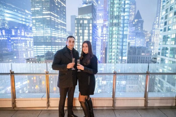 Where to Propose in Private Rooftop in Downtown Manhattan
