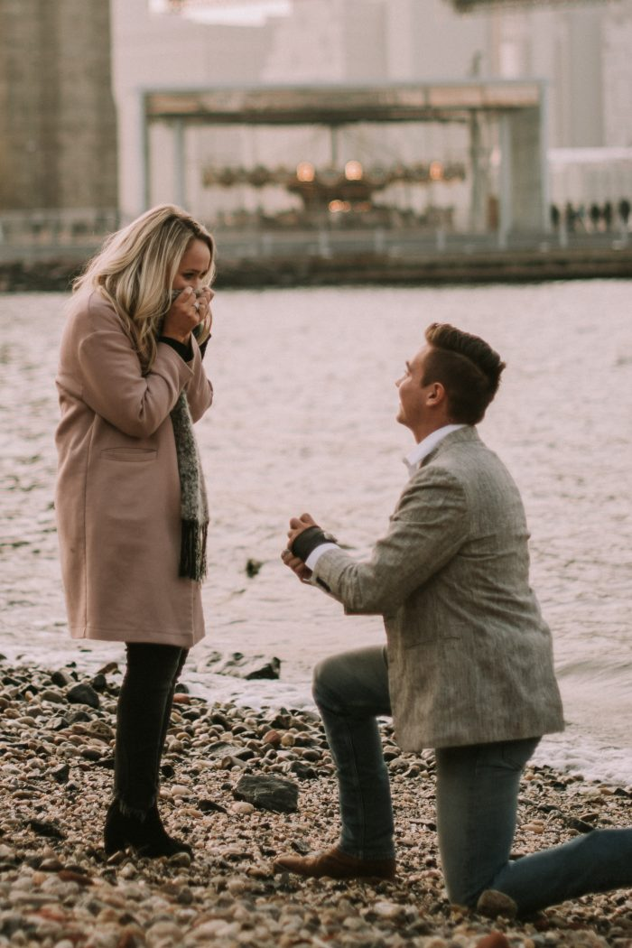 Michaela and Jace's Engagement in Brooklyn Bridge
