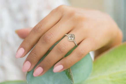 Image 4 of 15 Heavenly Halo Engagement Rings: Stunners that Are Sure to Have Her on Cloud Nine
