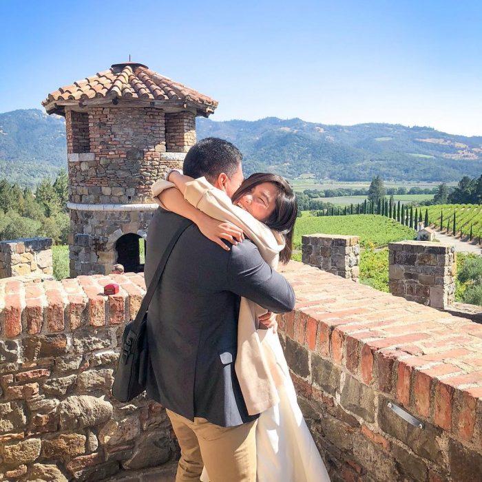 Wedding Proposal Ideas in Castello di Amorosa, Napa Valley