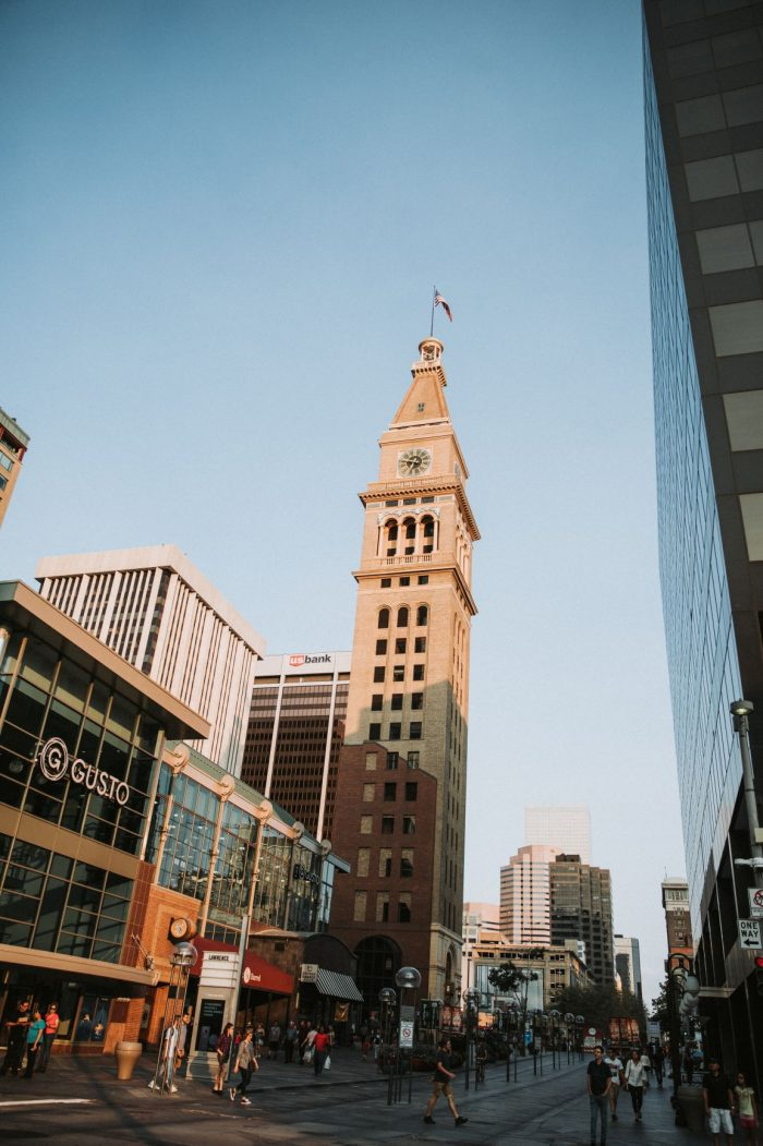 Engagement Proposal Ideas in Denver, Colorado - The Daniels and Fisher Clock Tower