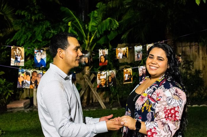 Engagement Proposal Ideas in In a beautiful backyard