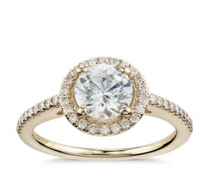 Image 8 of 15 Heavenly Halo Engagement Rings: Stunners that Are Sure to Have Her on Cloud Nine