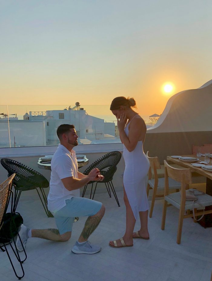 Mary and Kyle's Engagement in Oia, Greece