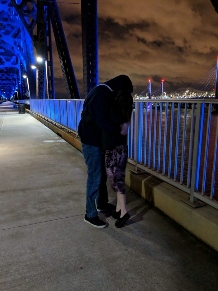 Wedding Proposal Ideas in On a bridge over the Ohio river