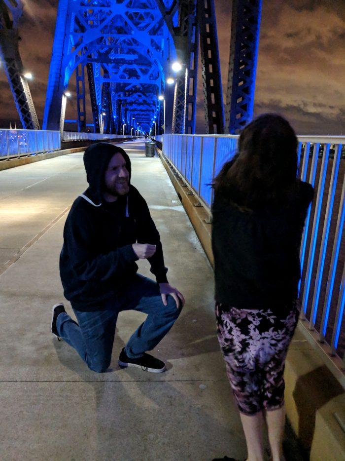 Where to Propose in On a bridge over the Ohio river