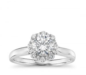 Image 10 of 15 Heavenly Halo Engagement Rings: Stunners that Are Sure to Have Her on Cloud Nine