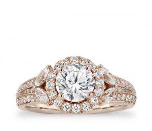 Image 12 of 15 Heavenly Halo Engagement Rings: Stunners that Are Sure to Have Her on Cloud Nine