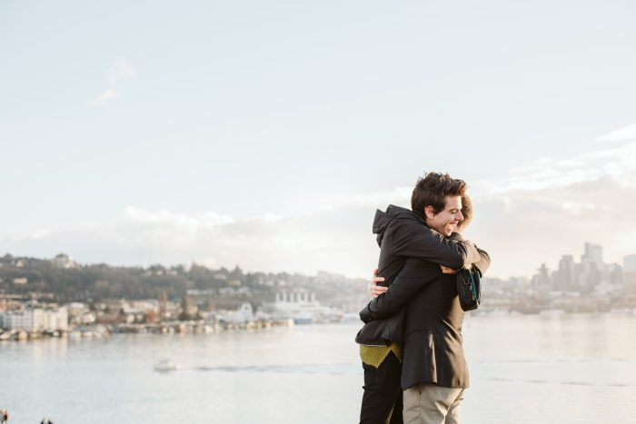 Sean and Christopher's Engagement in Seattle at Gasworks Park