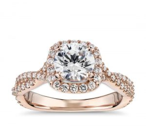 Image 6 of 15 Heavenly Halo Engagement Rings: Stunners that Are Sure to Have Her on Cloud Nine