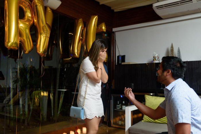 Engagement Proposal Ideas in La Vespa, JW Marriot, Panama City, Panama