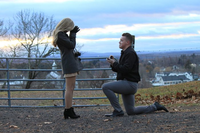 Proposal Ideas Groton, MA on a hill with a castle perched atop. Perfect for watching sunsets.