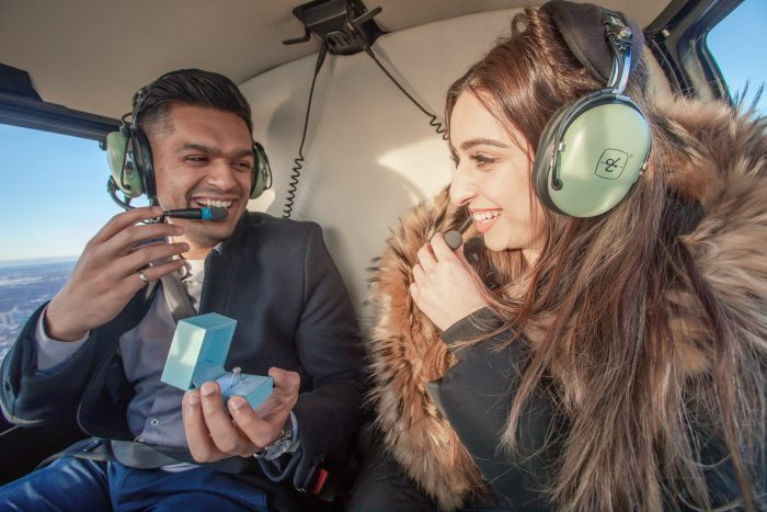Engagement Proposal Ideas in On a helicopter in Toronto, Ontario