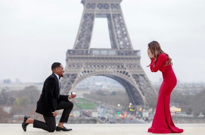 Carly and Tyrome's Engagement in Paris, Fran ce