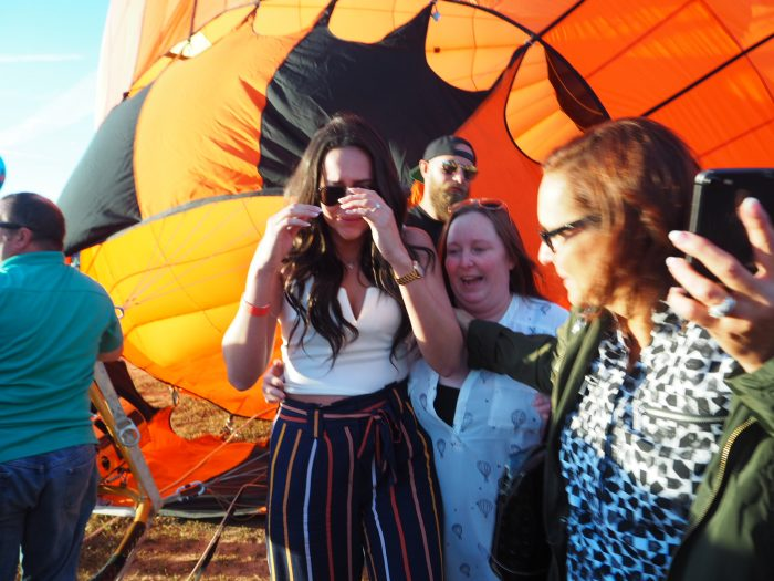 Bruna's Proposal in Carolina BallonFest
