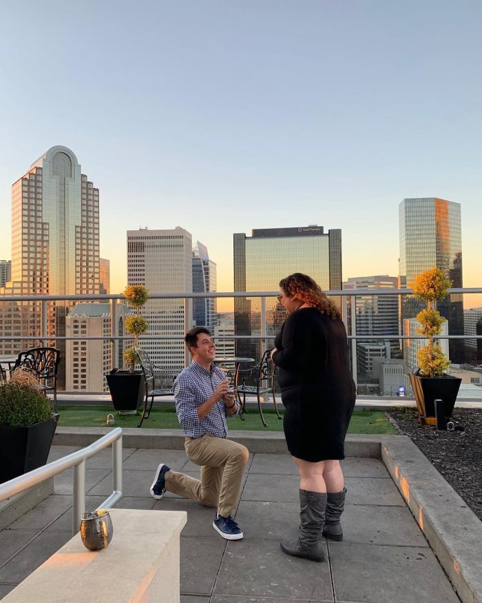 Linsey's Proposal in Fahrenheit, Charlotte, NC
