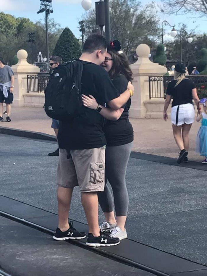 Christine's Proposal in Walt Disney World Resort's Magic Kingdom