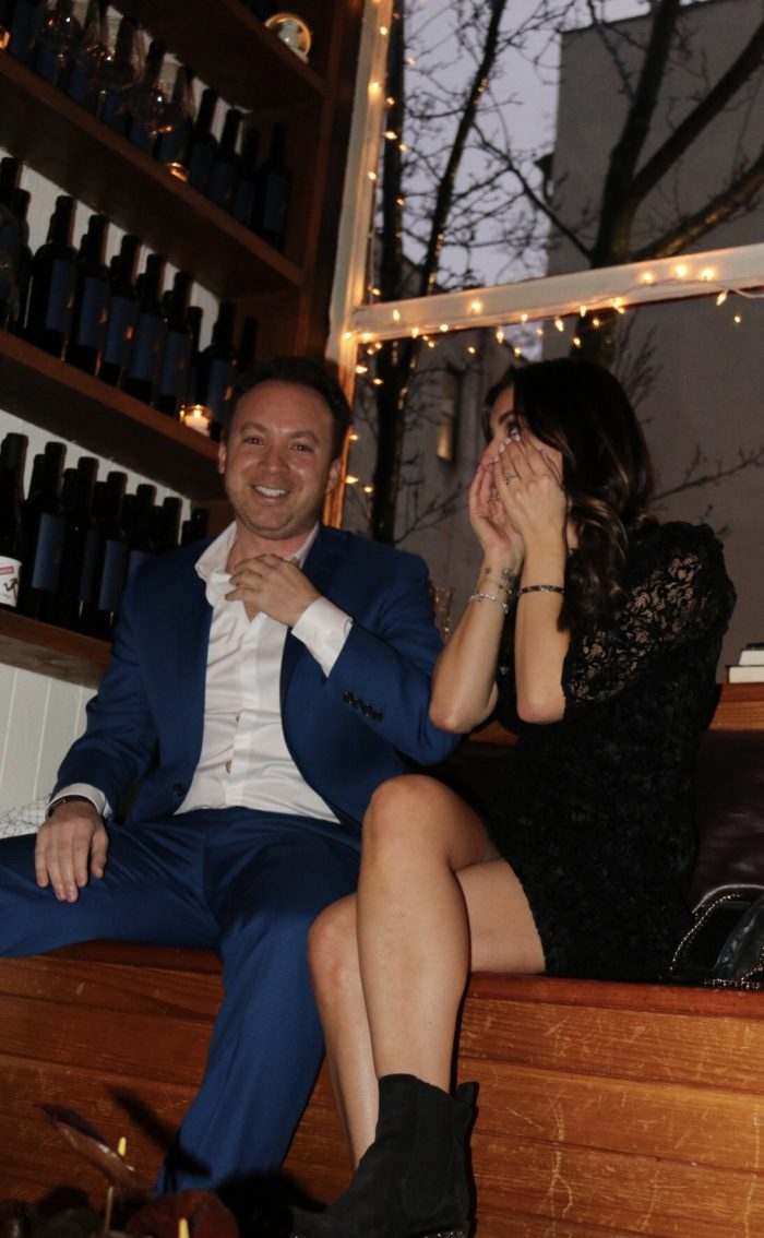 Tiffany's Proposal in Little Owl NYC