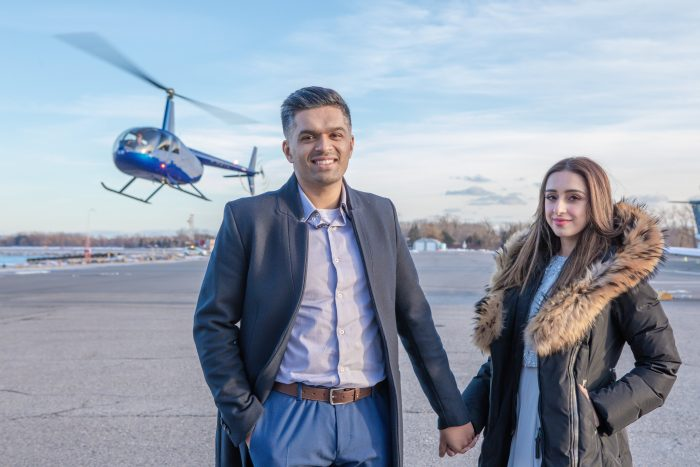Wedding Proposal Ideas in On a helicopter in Toronto, Ontario