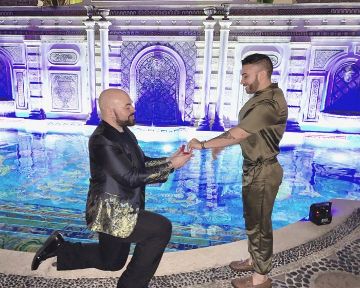 Christian and Ryan's Engagement in Versace Mansion