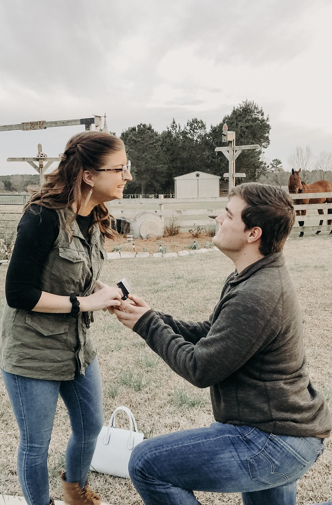 Wedding Proposal Ideas in On his grandparents ranch