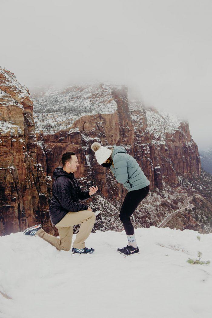 Wedding Proposal Ideas in Zion National Park, UT